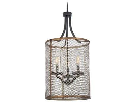 Minka Lavery Marsden Commons Smoked Iron / Aged Gold 14'' Wide Glass Mini Chandelier MGO4692107