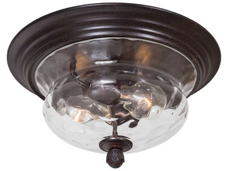 Minka Lavery Merrimack Corona Bronze Glass Outdoor Ceiling Light