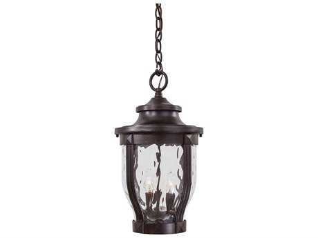 Minka Lavery Merrimack Corona Bronze Glass Outdoor Hanging Light