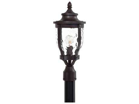 Minka Lavery Merrimack Corona Bronze Glass Outdoor Post Light