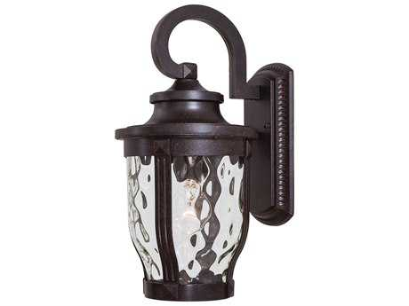 Minka Lavery Merrimack Corona Bronze Glass Outdoor Wall Light