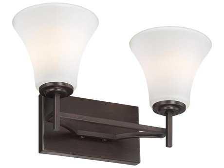 Minka Lavery Middlebrook Vintage Bronze Glass Vanity Light MGO5932284