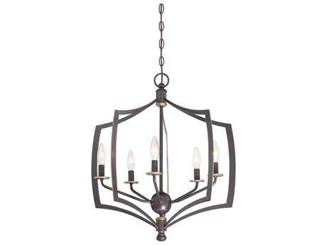 Minka Lavery Middletown Downton Bronze with Gold Hightlights 23'' Wide Medium Chandelier