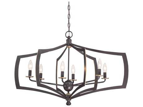 Minka Lavery Middletown Downton Bronze with Gold Hightlights 34'' Wide Medium Chandelier