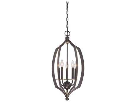 Minka Lavery Middletown Downton Bronze with Gold Hightlights 14'' Wide Pendant