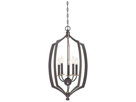 Minka Lavery Middletown Downton Bronze with Gold Hightlights 17'' Wide Pendant MGO4373579