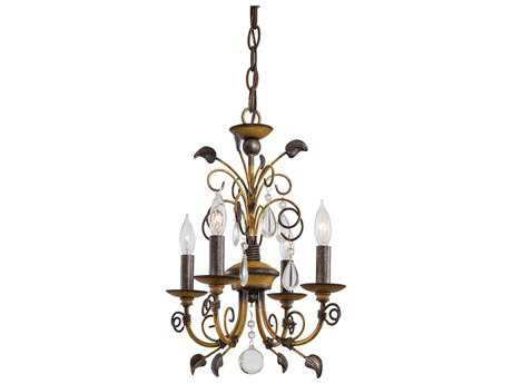 Minka Lavery Belcaro Walnut 12'' Wide Mini Chandelier MGO3127126