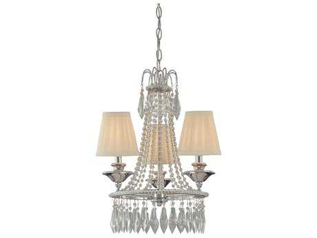 Minka Lavery Chrome 16'' Wide Crystal Glass Mini Chandelier MGO313277