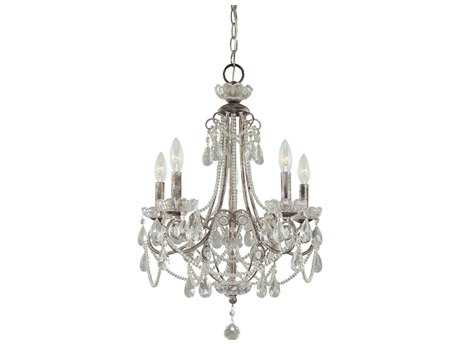 Minka Lavery Distressed Silver 18'' Wide Mini Chandelier MGO3134207