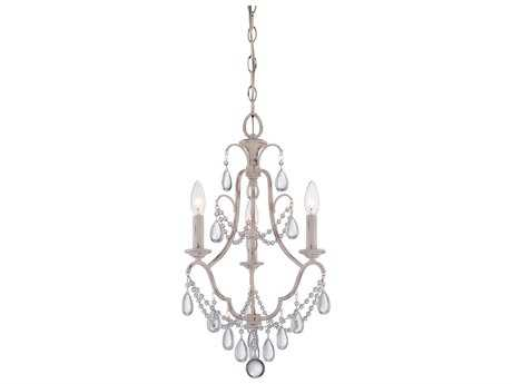 Minka Lavery Provencal Blanc with Clear Crystal 13'' Wide Mini Chandelier MGO3137648
