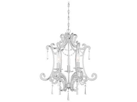 Minka Lavery Chrome 19'' Wide Crystal Glass Mini Chandelier MGO315277