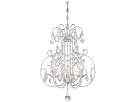 Minka Lavery Vintage Silver 16'' Wide Crystal Glass Mini Chandelier MGO3153599