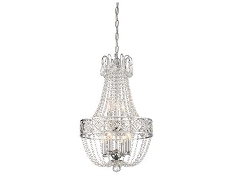 Minka Lavery Chrome 14'' Wide Crystal Mini Chandelier MGO315977