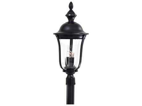 Minka Lavery Morgan Park Heritage Glass Outdoor Post Light
