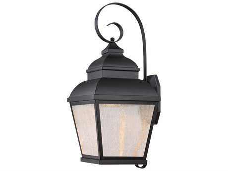 Minka Lavery Mossoro Black Glass LED Outdoor Wall Light