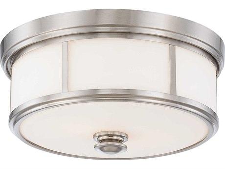 Minka Lavery Mount Brushed Nickel 20'' Wide Glass Flush Light