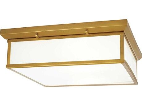 Minka Lavery Mount Liberty Gold 20'' Wide Glass LED Flush Light