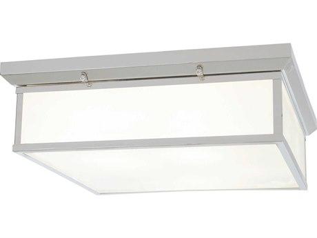 Minka Lavery Mount Chrome 20'' Wide Glass LED Flush Light