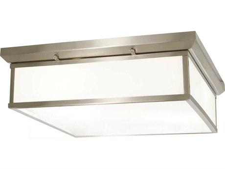 Minka Lavery Mount Brushed Nickel 20'' Wide Glass LED Flush Light