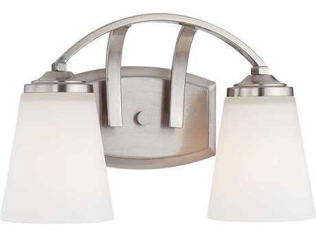 Minka Lavery Overland Park Brushed Nickel Glass Vanity Light