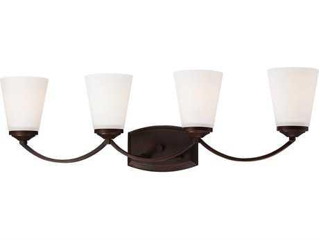 Minka Lavery Overland Park Vintage Bronze Glass Vanity Light