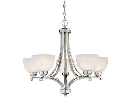 Minka Lavery Paradox Brushed Nickel 27'' Wide Glass Medium Chandelier