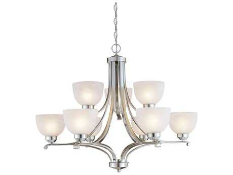 Minka Lavery Paradox Brushed Nickel 34'' Wide Glass Medium Chandelier
