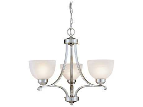 Minka Lavery Paradox Brushed Nickel 23'' Wide Glass Mini Chandelier MGO142384