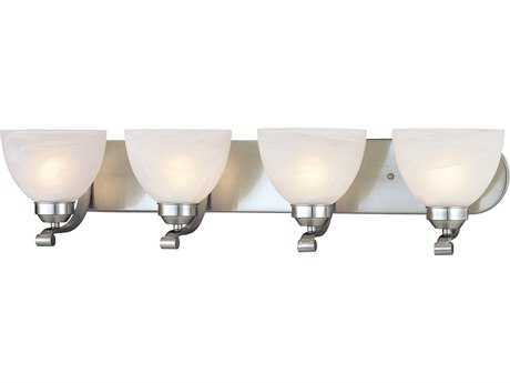 Minka Lavery Paradox Brushed Nickel Glass Vanity Light