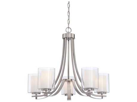 Minka Lavery Parsons Studio Brushed Nickel 25'' Wide Glass Medium Chandelier