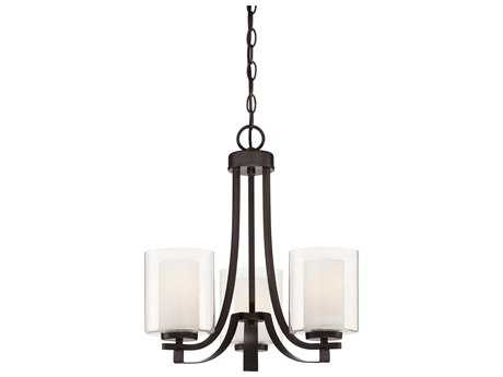 Minka Lavery Parsons Studio Smoked Iron 18'' Wide Glass Mini Chandelier MGO4103172
