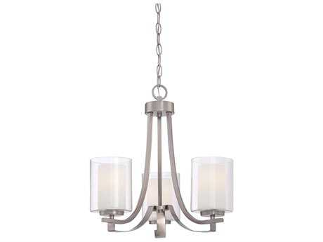 Minka Lavery Parsons Studio Brushed Nickel 18'' Wide Glass Mini Chandelier MGO410384