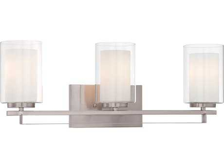 Minka Lavery Parsons Studio Brushed Nickel Glass Vanity Light MGO610384