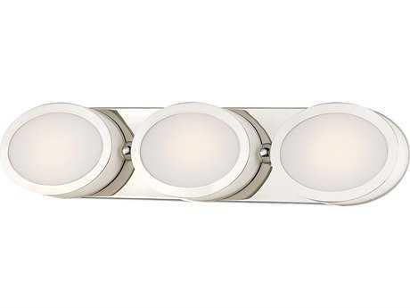 Minka Lavery Pearl Polished Nickel Glass LED Vanity Light MGO2903613L