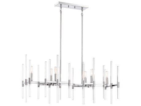 Minka Lavery Pillar Chrome 38'' Wide Island Light MGO309677