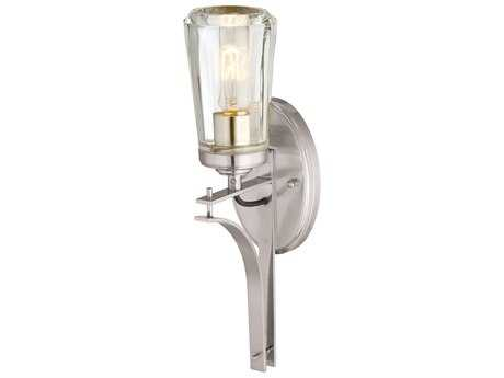 Minka Lavery Poleis Brushed Nickel Glass Industrial Wall Sconce MGO230184