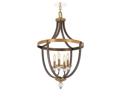 Minka Lavery Safra Harvard Court Bronze / Natural 19'' Wide Mini Chandelier MGO4734113