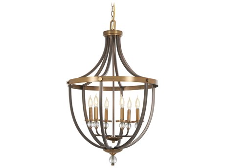 Minka Lavery Safra Harvard Court Bronze / Natural 23'' Wide Mini Chandelier MGO4736113