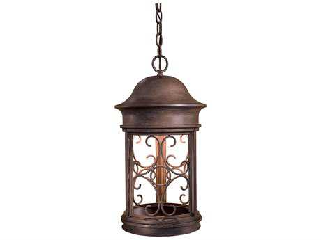 Minka Lavery Sage Ridge Vintage Rust Outdoor Hanging Light