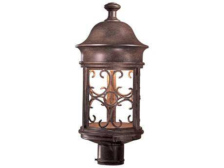 Minka Lavery Sage Ridge Vintage Rust Outdoor Post Light