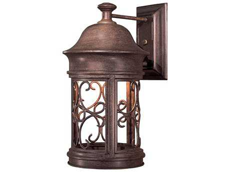 Minka Lavery Sage Ridge Vintage Rust Outdoor Wall Light
