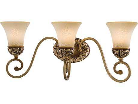 Minka Lavery Salon Grand Florentine Patina Glass Vanity Light mgo5553477