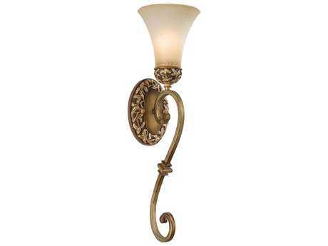 Minka Lavery Salon Grand Florentine Patina Glass Wall Sconce mgo1571477
