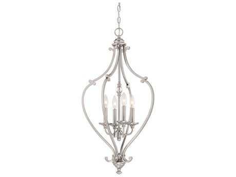 Minka Lavery Savannah Row Brushed Nickel 17'' Wide Glass Medium Chandelier MGO333384