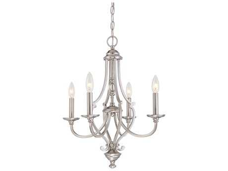 Minka Lavery Savannah Row Brushed Nickel Glass Mini Chandelier MGO333484