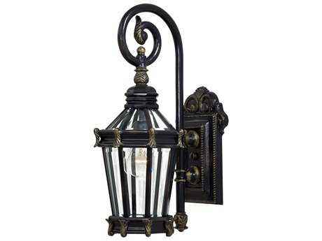 Minka Lavery Stratford Hall Heritage with Gold Highlights Glass Outdoor Wall Light