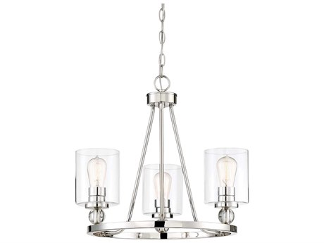 Minka Lavery Studio 5 Polished Nickel 22'' Wide Glass Mini Chandelier MGO3077613