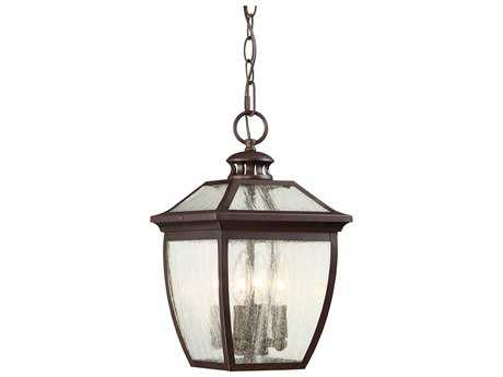 Minka Lavery Sunnybrook Alder Bronze Glass Outdoor Hanging Light