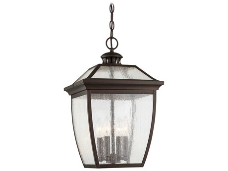 Minka Lavery Sunnybrook Alder Bronze Glass Outdoor Hanging Light