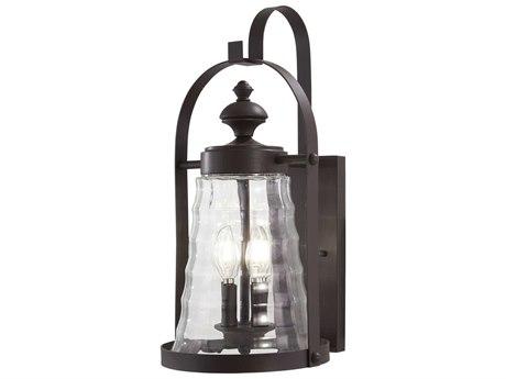 Minka Lavery Sycamore Trail Dorian Bronze Glass Outdoor Wall Light